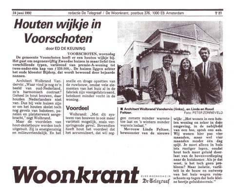 Houten wijkje in Voorschoten